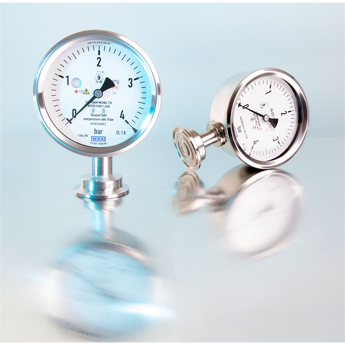 Hygienic diaphragm pressure gauges, also with ATEX version